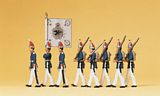 Preiser 12188 1 Guards regiment on foot Potsdam 1894