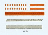 Preiser 18218 Parapet weathering made out of roof tiles and quarry tiles