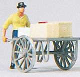 Preiser 28036 Man with Cart