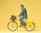 Preiser 45073 Postman France on bicycle