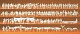 Preiser 79000 Railway personnel Passengers passers-by workers animals 120 unpainted