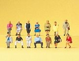 Preiser 79199 Seated Passengers 14 miniature figures