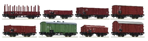Roco 44001 8-piece Set Freight Wagons CSD