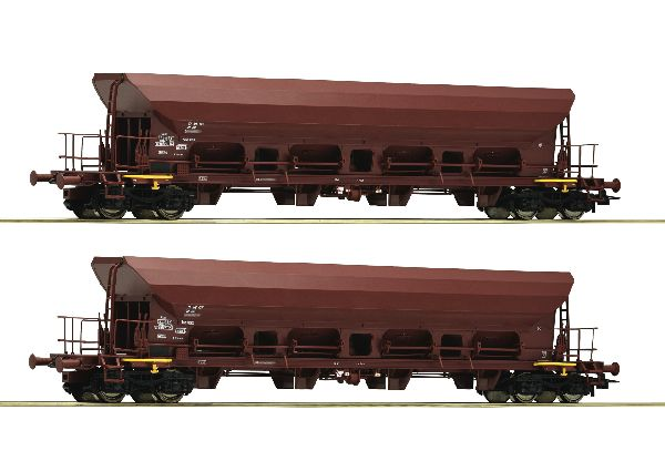 Roco 67088 2 Piece Set Self Unloading Hopper Wagons DR