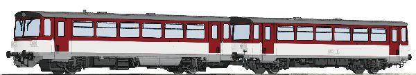 Roco 70383 Diesel Railcar Class 810 and Caboose ZSSK