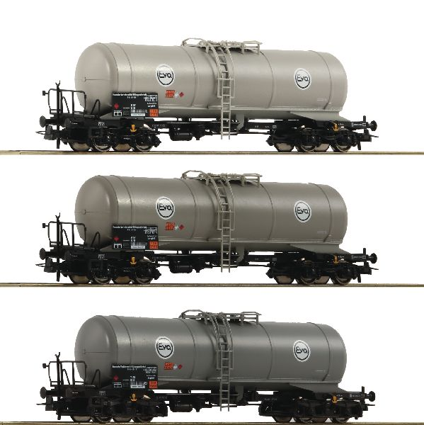 Roco 76052 3 Piece Set Tank Wagons Eva