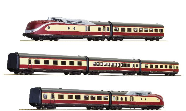 Roco 79935 7 Piece Set Diesel Multiple Unit Class 601 DB