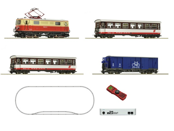 Roco 31033 z21 start Digitalset Electric locomotive class 1099 with bicycle wagon