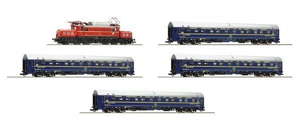 Roco 61470 5 piece set Electric locomotive class 1020 and 4 sleeping cars