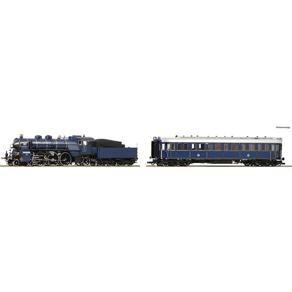 Roco 61472 2 piece set Steam locomotive S 3-6 and Prinzregenten coach K Bay Sts B