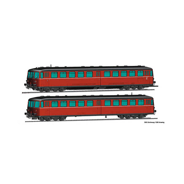 Roco 72081 Accumulator railcar class 515 with cab car DB