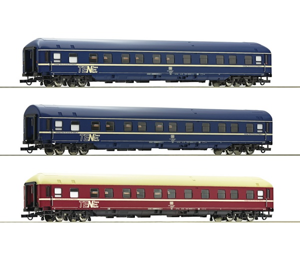 Roco 74129 3 piece set Sleeping cars DB