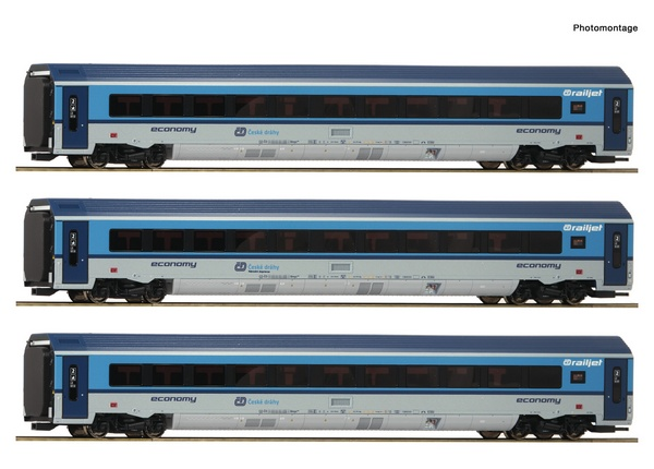 Roco 74140 3 piece set Railjet CD