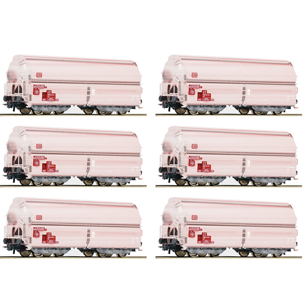Roco 75938 12 piece display Swing roof wagons DB AG