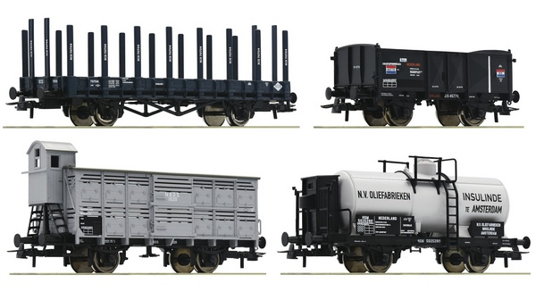 Roco 76077 4 piece set Goods wagons