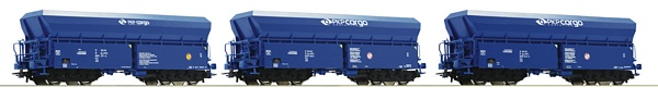 Roco 76078 3 piece set Self-unloading hopper wagons PKP Cargo
