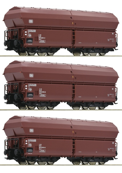 Roco 76079 3 piece set Self-unloading hopper wagons DB