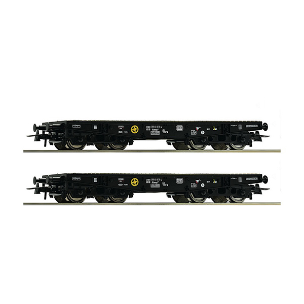 Roco 76080 2 piece set Heavy duty flat wagon DB
