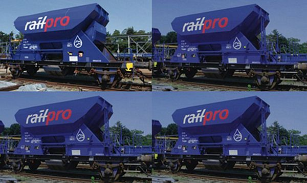 Roco 76137 4 piece set Hopper wagons Railpro