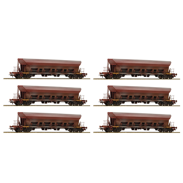 Roco 77915 12 piece display Self-unloading hopper wagons DR