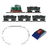 Roco 31034 H0e Analogue Starter Set Light Railway Diesel Locomotive with Tipper Wagon Train