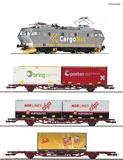 Roco 61487 4 piece set Electric locomotive EL 16 with goods