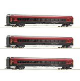 Roco 64192 3 Piece Set Railjet OBB