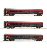 Roco 64193 3 Piece Set Railjet OBB