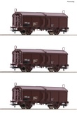 Roco 66178 3 piece set Sliding roof wagons