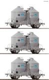 Roco 76010 3 piece set Silo wagons