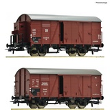 Roco 76012 2 piece set Covered goods wagons