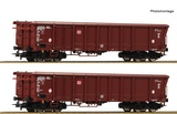 Roco 76014 2 piece set Rolling roof wagons