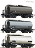 Roco 76015 3 piece set Tank wagons