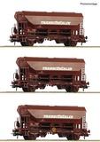 Roco 76033 3 piece set Swing roof wagons