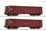 Roco 76038 2 piece set Open goods wagons
