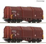 Roco 76042 2 piece set Telescopic hood wagons