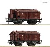 Roco 76043 2 piece set Hinged lid wagons