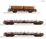 Roco 76053 3 piece set Steel train
