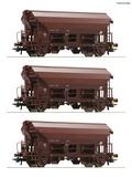Roco 76180 3 piece set Swing roof wagons