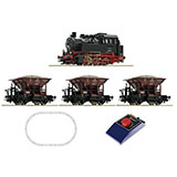 Roco 51159 Analogue Start Set Steam locomotive class 80 with freight train DB