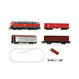 Roco 51312 z21 start Digitalset Diesel locomotive class 218 with freight train DB AG