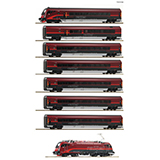 Roco 74116 8 piece set Railjet OBB