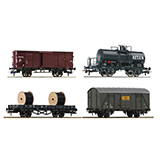 Roco 76134 4 piece set Goods wagon NS