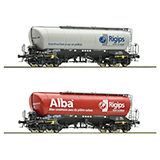Roco 76139 2 piece set Silo wagons Rigips