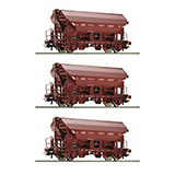 Roco 76179 3 piece set Swing roof wagons SNCB