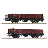 Roco 76281 2 piece set Open goods wagons PKP