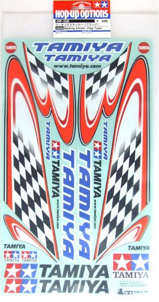 Tamiya 53550 RC Body Sticker Checker Flag Type A