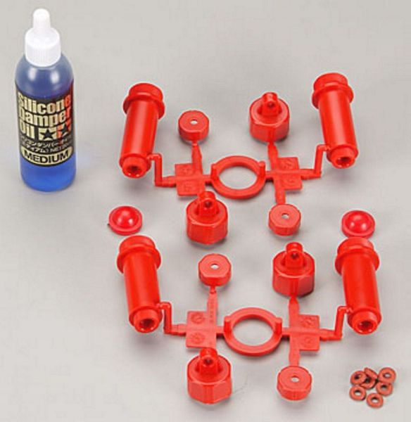 Tamiya 53560 RC GP TGM-02 Damper Cylinder Red w-Oil 4pcs-pk 8 require