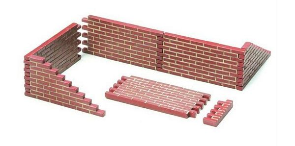Tamiya 26014 Brick Wall Set Finished Model