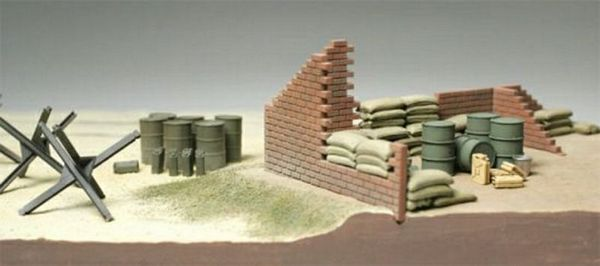 Tamiya 32508 Brick Wall-Sand Bag-Barricade